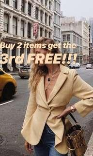 Buy 2 get the 3rd FREE!!!
