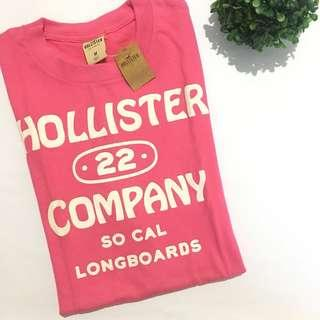 Auth BNWT hollister bought in usa pink shirt