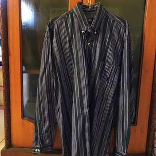 Kemeja big size stripe purple