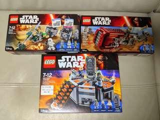 Lego 75141 75099 75137 Star Wars set