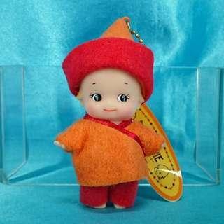 自行出價 合價即賣 日本景品 丘比娃娃 蒙古民族服裝 沙律BB 公仔吊飾 Rose O'neill Kewpie Japan Dolls Keychain Mongolia