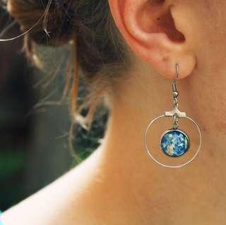 Handmade Dangle Hoop Earrings