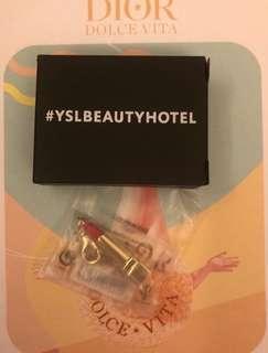 YSL 唇膏 Lipstick Charm Chain Keychain 吊飾 鎖匙扣