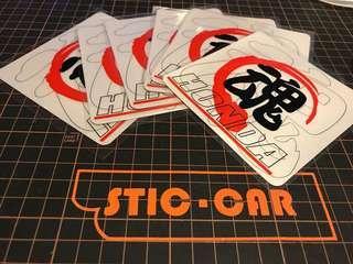 Honda 魂 反光貼紙
