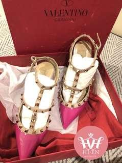 VALENTINO ROCKSTUD SHOES PINK 37.5