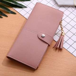 (Sales) Pink Long Wallet With Tassel