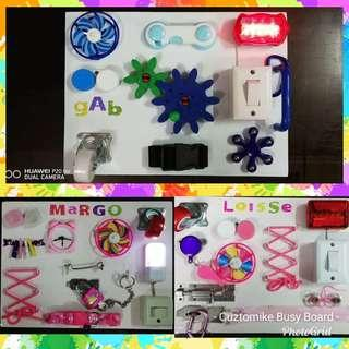Cuztomike Busy Boards, pm for inquiries or visit fb page, Cuztomike Busy Boards