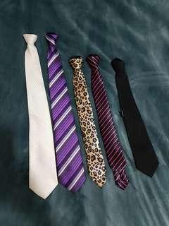 Zippered Ties
