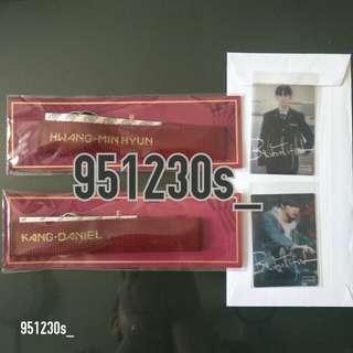 [WTS] Wanna One Daniel and Minhyun Phone Strap Transparent Photocard Premier Fan Con