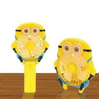 Kipas angin karakter portable usb mini fan minion