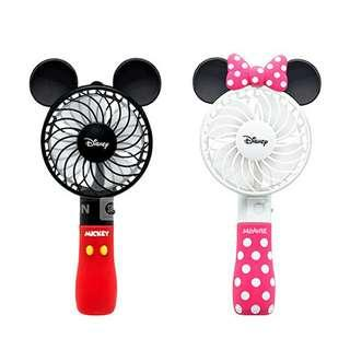 Kipas angin charger usb emergency mickey minnie mouse