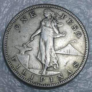 1908s USPI one peso coin