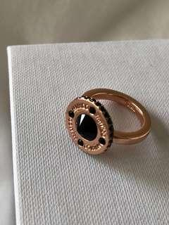 MIMCO rose gold black gem ring S