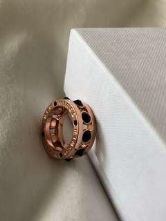 MIMCO rose gold black gem stud ring S