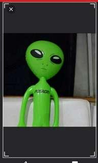 FREE NORMAL POSTAGE. Brand NEW Inflatable GREEN ALIENS