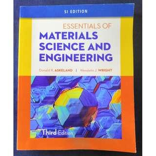 《 Essentials of Materials Science & Engineering, SI Edition》ISBN9781111576868
