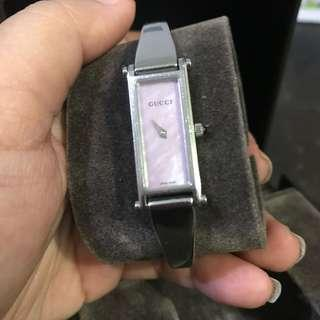 Gucci Watch Silver Pink Dial