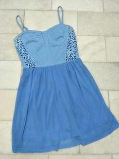 Twenty3 Bardot Dress Blue