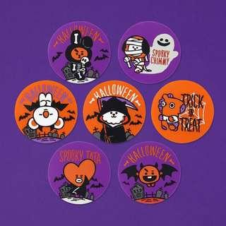 Fast GO BT21 Halloween Series Silicone Coaster