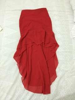 Asymetrical mermaid skirt