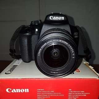 PRICE DROP! Canon DSLR EOS 1200D with EF-S 18-55 IS II lens