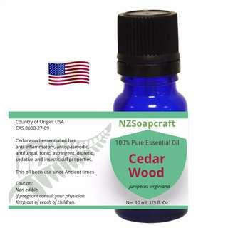 Cedar wood essential oil 10ml