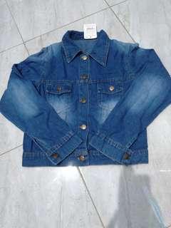 Jaket jeans bordir