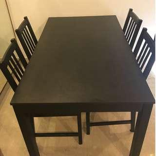 IKEA dining table and chair set