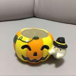 全新!萬聖節 笑臉南瓜 黑色帽小鬼 造型 陶瓷杯 / 擺設