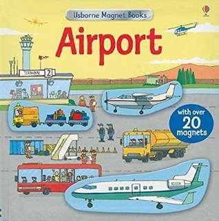 Usborne magnetic book on Airports