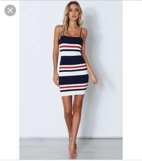 Whitefox stripe dress