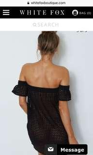 Whitefox Black crotchet dress