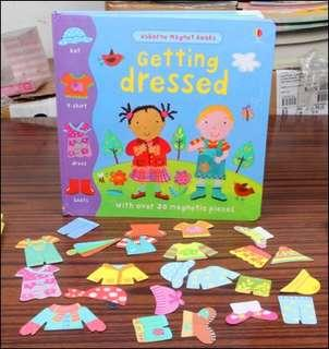 Usborne Magnetic book - getting dressed