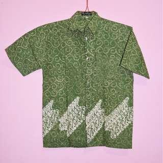 ABITEX Green Basic Batik Shirt