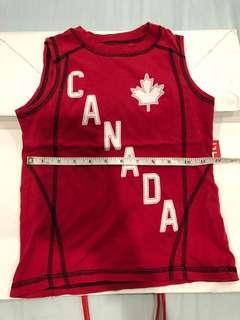 Canada kids singlet red