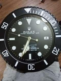 Cheapest Rolex Wall Clock Black Submariner
