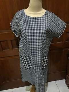GINGHAM BLOCK DRESS