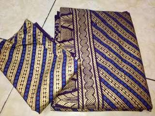 Sarung Songket + selendang Purple Gold