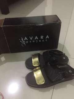 Sepatu flat wedges javara + box