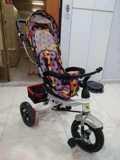 Tricycle stroller bicycle