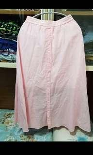 Snidel baby pink maxi skirt