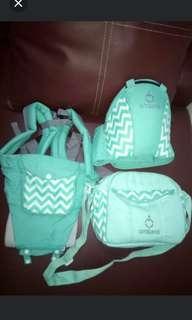 omiland hipseat & diaper bag