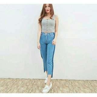 Celana Jeans List Boyfriend Pull&Bear