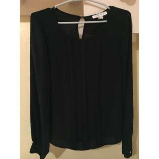 Forever 21 Black Formal Top