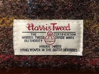 日本帶回 經典 Harris tweed 毛呢格紋蘇格蘭卡夾/卡套