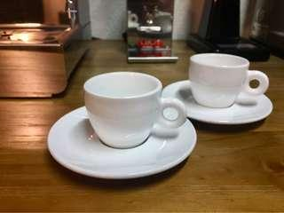 Espresso Coffee cups and saucers 2 sets