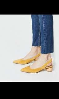 BN Yellow Shoes with wooden heel