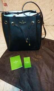 正品Kate Spade bucket bag索繩袋/水桶包😍極新淨