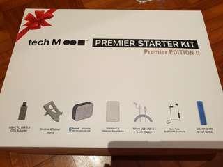 Tech M Premier starter kit - blue tooth earphone, powerbank