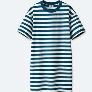 UNIQLO U系列藍白條紋洋裝